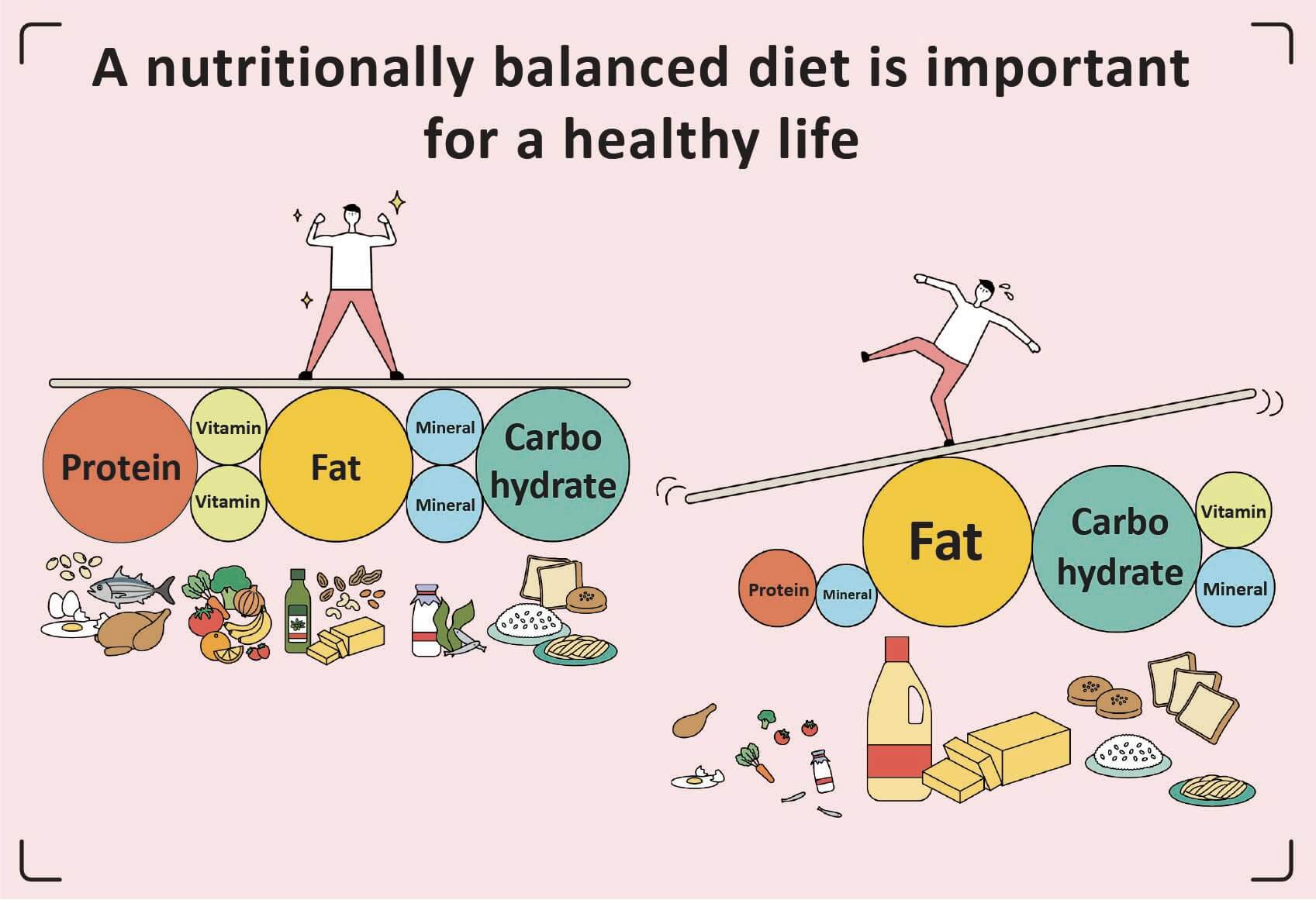 Nutritionally Balanced Diet For Healthy life