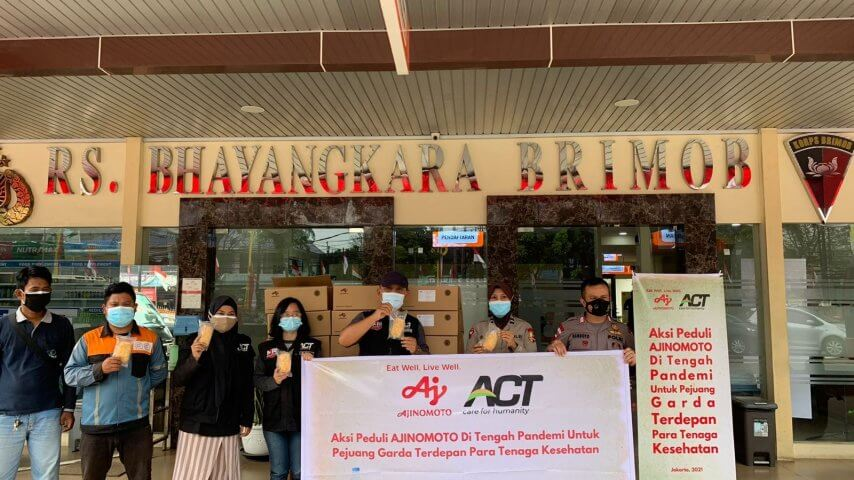味之素集團印尼子公司向一線醫護人員捐贈食物