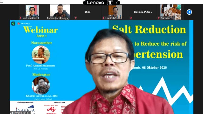 La filial indonesia del Grupo Ajinomoto realiza un seminario web sobre los beneficios para la salud de reducir el consumo de sal