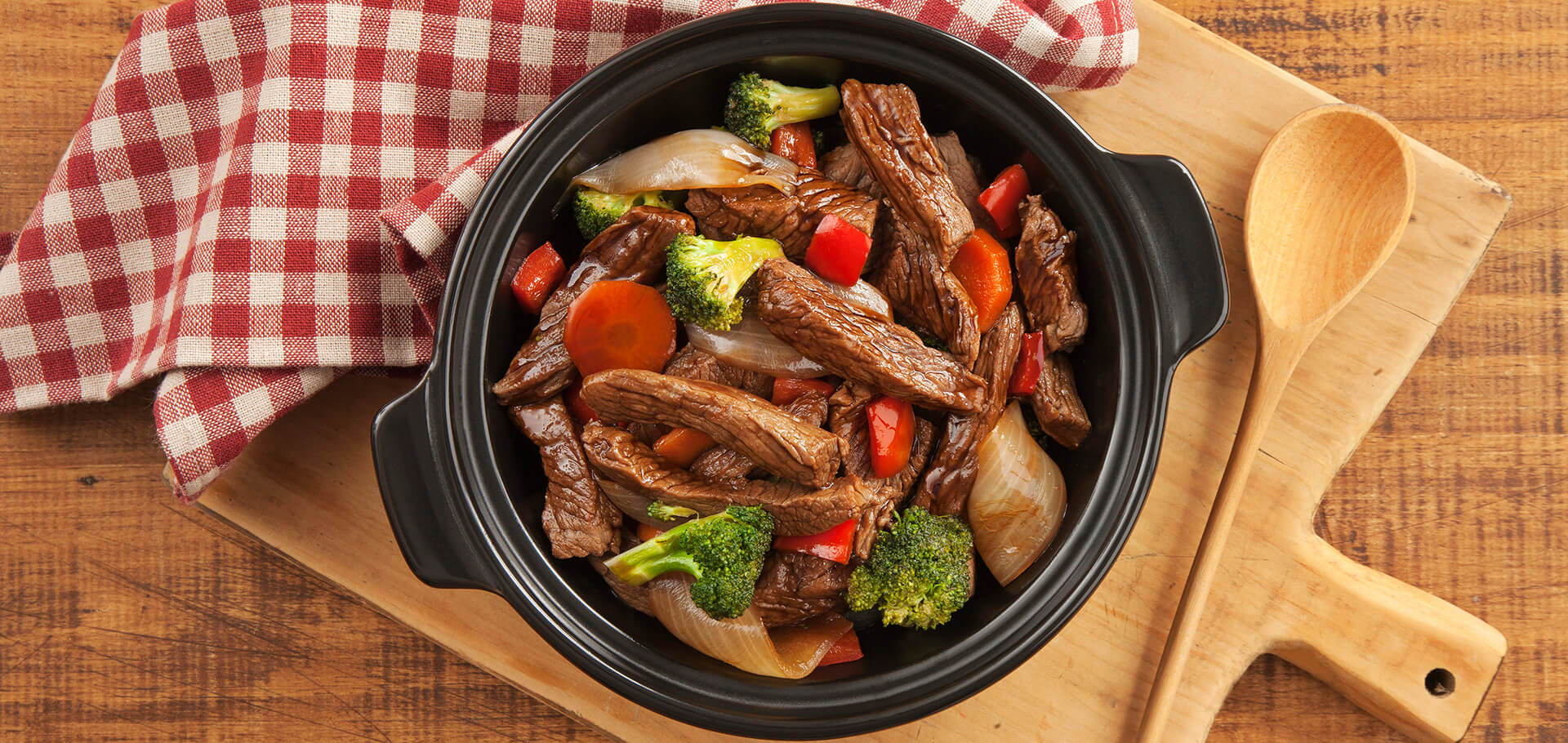 牛肉和蔬菜炒
