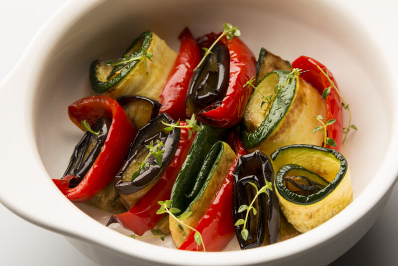 Grilled Marinated Vegetables with Umami