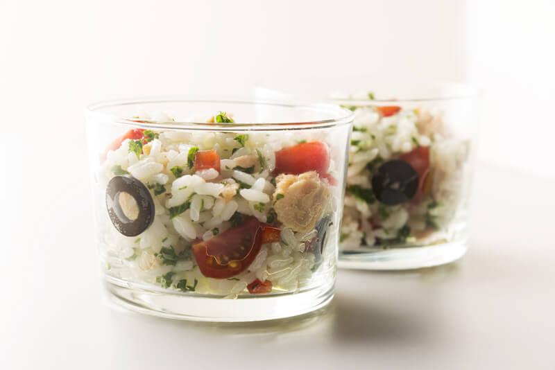 Salade de riz facile et riche en umami